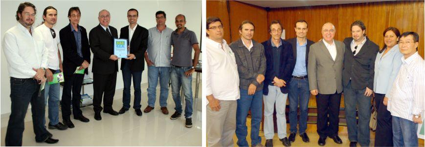 Momento da entrega da minuta do PL as mãos do Deputado Arnaldo Jardim e membros da ANAGEA no IV Encontro de Gestores Ambientais