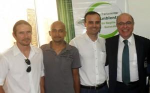 Gérson Eli Fernandes (Tesoureiro), João Paulo Rodrigues (Dir. Comunicação e Imprensa), Alexandre Robim (Presidente ANAGEA) e deputado federal Arnaldo Jardim (PPS/SP)